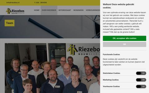 Screenshot of Team Page riezebos.nl - Team   Riezebos Bouwbedrijf - captured Oct. 19, 2018