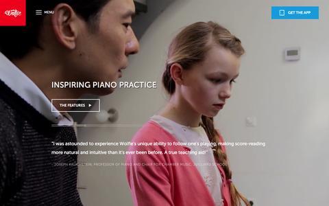 Screenshot of Maps & Directions Page tonara.com - Wolfie for piano app - Tonara and Wolfie for Piano - captured Feb. 19, 2016
