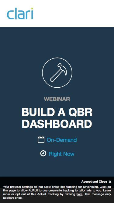 Webinar: Build A QBR Dashboard