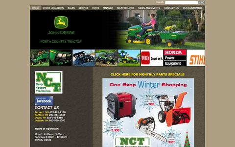 Screenshot of Home Page northcountrytractor.com - North Country Tractor, Inc. - Home - North Country Tractor Inc. - 1-603-226-2188 - Concord   Sanford   Dover   Ossipee - captured Jan. 26, 2015