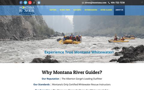 Screenshot of About Page montanariverguides.com - A Montana Whitewater Rafting Company | Montana River Guides - captured June 19, 2017
