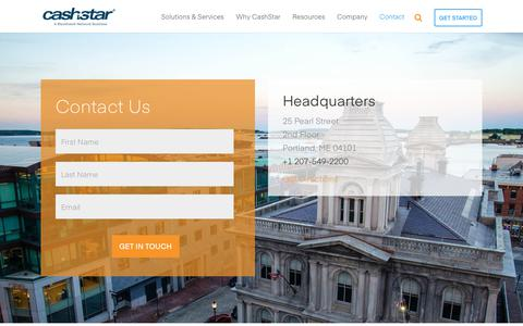Screenshot of Contact Page cashstar.com - Contact Us with Questions - CashStar - captured July 12, 2018