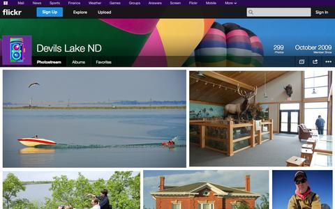Screenshot of Flickr Page flickr.com - Flickr: Devils Lake ND's Photostream - captured Oct. 22, 2014