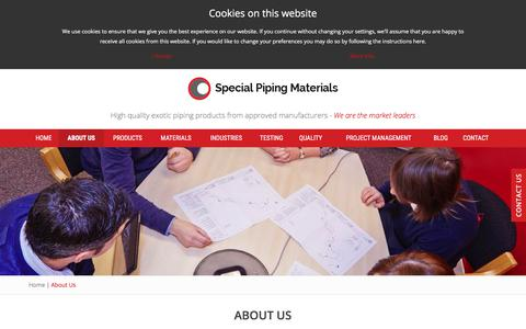 Screenshot of About Page specialpipingmaterials.com - About Us | Special Piping Materials - captured Nov. 3, 2017