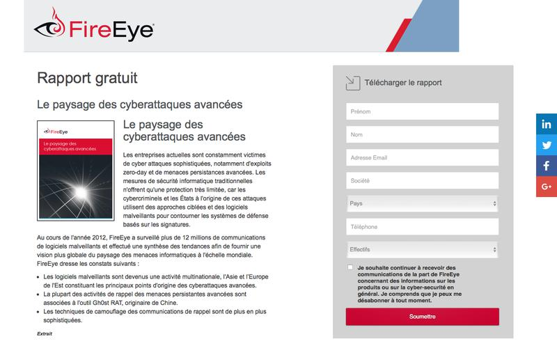 FireEye | Le paysage des cyberattaques avancées