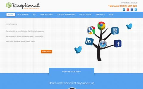 Screenshot of Home Page phoenixcampaigns.com - Online Marketing Consultant | Internet Marketing Agency | Receptional - captured Sept. 29, 2014