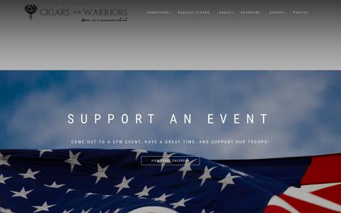 Screenshot of Home Page cigarsforwarriors.org - Cigars For Warriors | - captured Nov. 12, 2017
