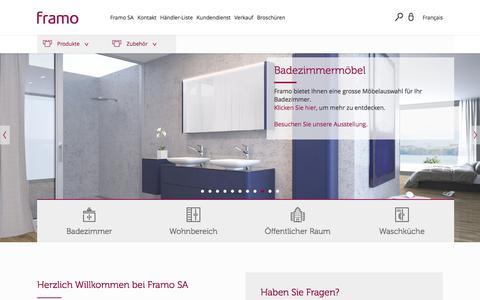 Screenshot of Home Page framo.ch - Framo [Start] - captured Nov. 25, 2016