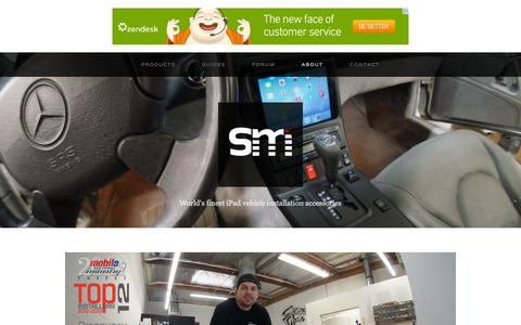 Screenshot of About Page soundmanca.com - About — iPad Car Mounts and Installation - captured Oct. 30, 2014