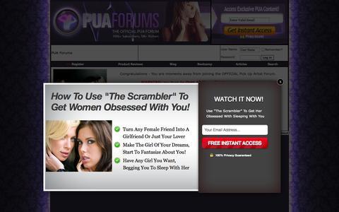 Screenshot of Signup Page puaforums.com - PUA Forums | Membership - captured Sept. 24, 2014