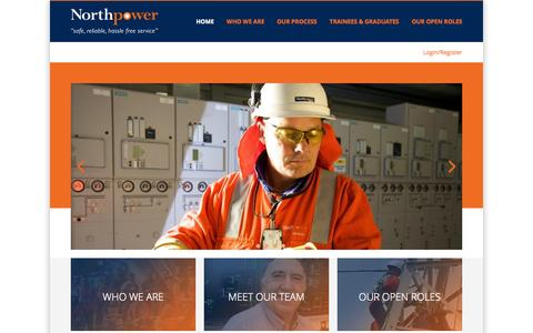 Screenshot of Jobs Page northpower.com - Careers at Northpower - captured Oct. 7, 2014