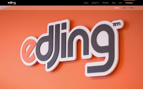 Screenshot of About Page edjing.com - DJiT | Learn more about the editor of edjing & edjing Pro - captured Nov. 25, 2015