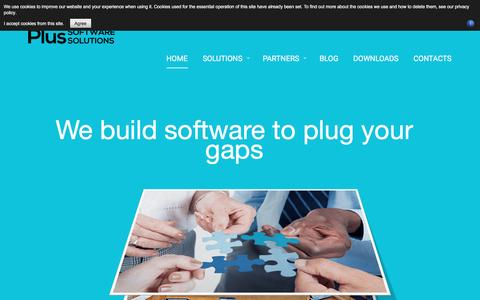 Screenshot of Home Page Privacy Page plussoftware.com.au - Plus Software - Plus Software Solutions Developers to extend your ERP software - captured Jan. 29, 2017