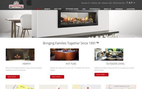 Screenshot of Home Page hearthsidepatio.com - Southern NE Largest Hearth Retailer - captured Nov. 2, 2018