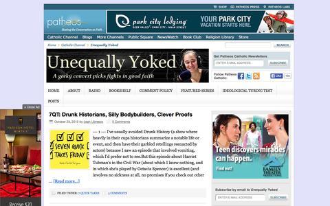 Screenshot of Home Page patheos.com captured Oct. 24, 2015