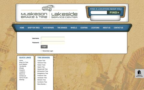 Screenshot of Login Page muskegonbrake.net - User Log In - captured Feb. 17, 2016