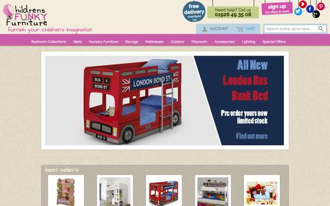 Screenshot of Login Page childrensfunkyfurniture.com - Kids and Nursery Furniture and Beds | Childrens Funky Furniture - captured Oct. 3, 2014