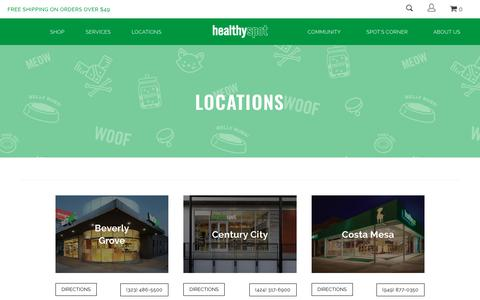 Screenshot of Locations Page healthyspot.com - Find your local Healthy Spot and visit us today! | Healthy Spot - captured July 18, 2018