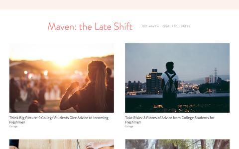 Maven: the Late Shift