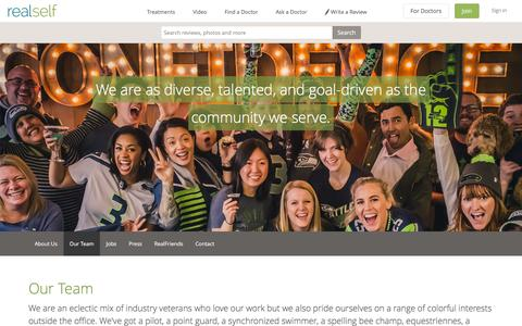 Screenshot of Team Page realself.com - Our Team - RealSelf - captured Oct. 27, 2015