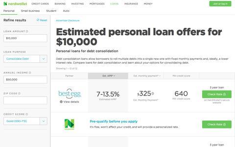 Debt Consolidation Loans | Pre-Qualify | NerdWallet