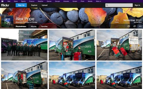 Screenshot of Flickr Page flickr.com - Flickr: Alexanders Removals and Storage's Photostream - captured Oct. 23, 2014