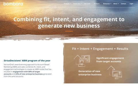 Screenshot of Case Studies Page bombora.com - Bombora | Combining fit, intent, and engagement to generate new business - captured Dec. 4, 2018
