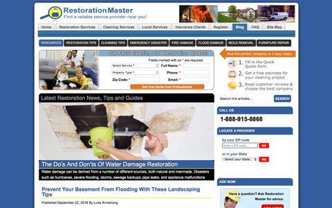 Screenshot of Blog restorationmasterfinder.com - Cleaning and Restoration Guides and Tips by RestorationMaster Finder - captured Sept. 24, 2018