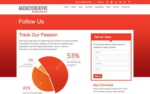 Screenshot of Signup Page agencycreative.com - Follow Us - captured Sept. 19, 2014