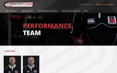 Screenshot of Team Page sport981.com - Our Team - Sport981 - captured Dec. 21, 2016