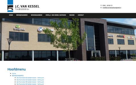 Screenshot of Site Map Page jcvankesselvastgoed.nl - Sitemap - captured July 21, 2016