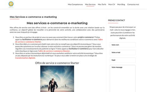 Screenshot of Services Page easy-it.fr - Services e-commerce e-marketing sur Montpellier et sa région. - captured Oct. 22, 2018
