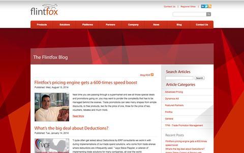 Screenshot of Blog flintfox.com - Trade Promotion Management   Flintfox - captured Sept. 30, 2014