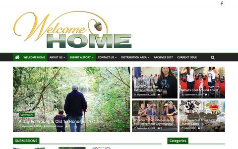 Screenshot of Home Page welcomehomesa.com - 2018 Article Submission Deadlines - Welcome Home Community Magazine| San Antonio - captured Sept. 29, 2018