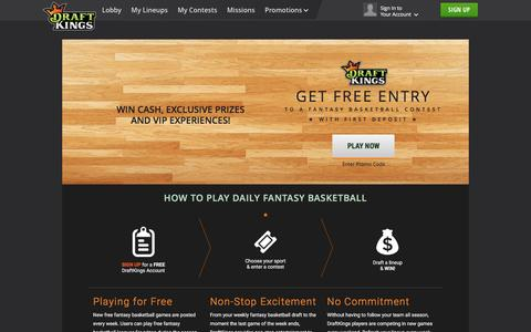 Play Fantasy Basketball on DraftKings