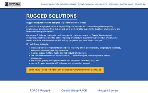 Screenshot of Products Page crystalrugged.com - Rugged Computers, Servers & LCDs for the Military | Crystal Rugged - captured Sept. 30, 2018