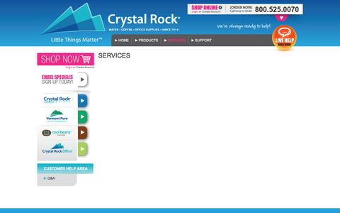 Screenshot of Services Page Site Map Page crystalrock.biz - SERVICES | Crystal Rock - captured April 11, 2016