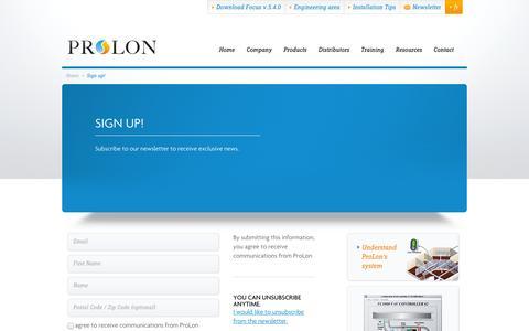 Screenshot of Signup Page prolon.net - Sign up! - ProLon - captured Nov. 2, 2014