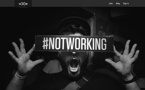 Screenshot of Team Page workingnotworking.com - Working Not Working - captured Nov. 20, 2015
