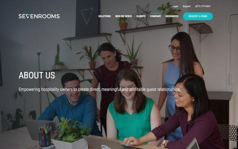 Screenshot of About Page sevenrooms.com - About Us   SEVENROOMS - captured May 31, 2018