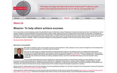 Screenshot of About Page nationwideinventoryprofessionals.com - About Nationwide Inventory Professionals | Nationwide Inventory Professionals - captured Oct. 7, 2014