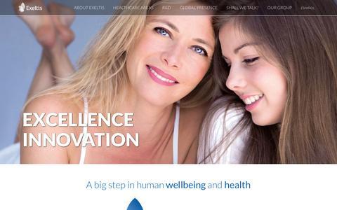 Screenshot of Home Page exeltis.com - Exeltis | Rethinking Healthcare - captured March 4, 2016