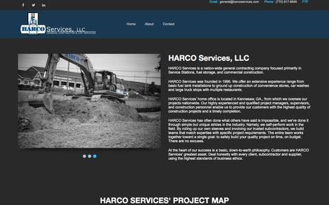 Screenshot of About Page harcoservices.com - HARCO Services LLC- About - captured Jan. 24, 2016