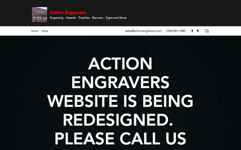 Screenshot of Home Page actionengravers.com - Home | Action Engravers - captured July 28, 2018
