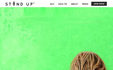 Screenshot of Home Page the-stand-up.com - Stand Up and Join the Urination - captured Dec. 25, 2015