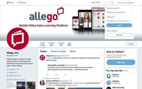 Allego, Inc. (@allegosoftware)   Twitter