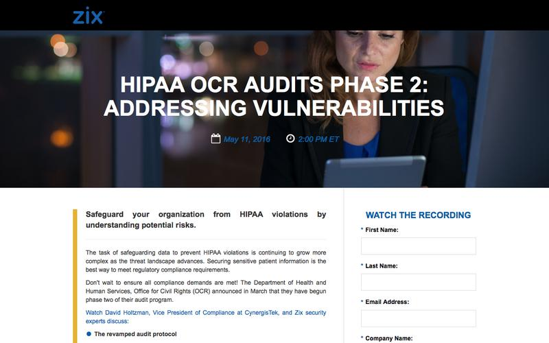 Webinar | HIPAA OCR Audits Phase 2