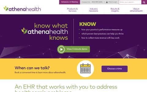 Screenshot of Home Page athenahealth.com - Improve Clinical and Financial Results | athenahealth | - captured July 7, 2017