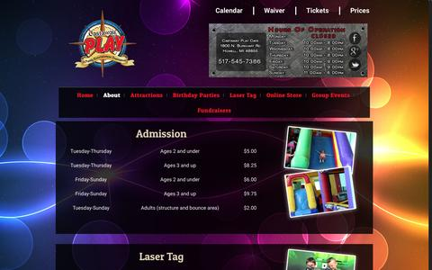 Screenshot of Pricing Page castawayplay.com - Pricing – Castaway Play Cafe - captured Oct. 26, 2016