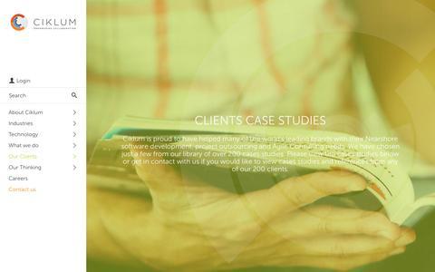 Screenshot of Case Studies Page ciklum.com - Ciklum Clients Case Studies - captured Nov. 23, 2015